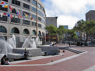 UN Plaza San Francisco, 2005, photograph by Charles Birnbaum. Courtesy, the Cultural Landscape Foundation.