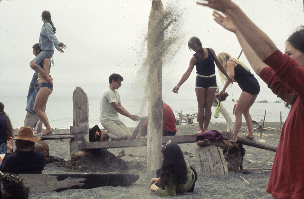 """Driftwood Village—Community,"" Sea Ranch, CA. Experiments in Environment Workshop, July 6, 1968. Courtesy Lawrence Halprin Collection, The Architectural Archives, University of Pennsylvania"
