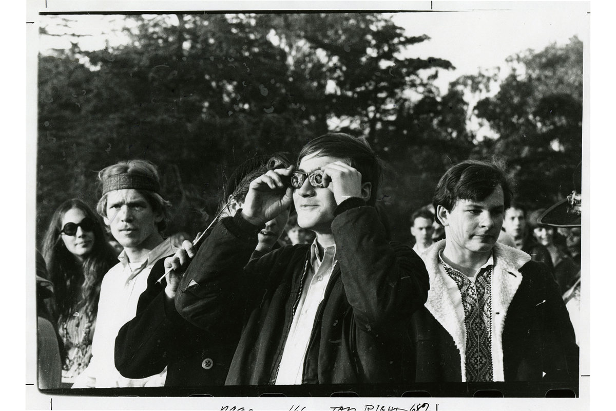 [The Human Be-In, Golden Gate Park, 1967 January 14], photograph by Gene Anthony, courtesy, California Historical Society, CPA-SOL_008