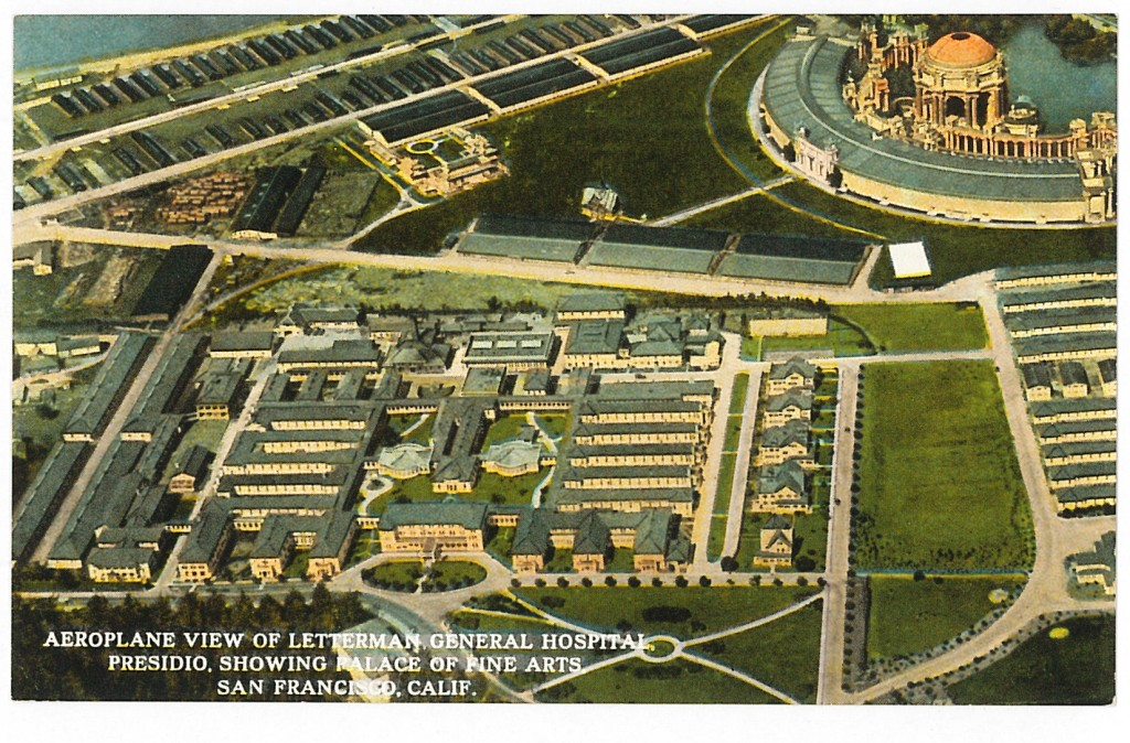 Aeroplane View of Letterman General Hospital, date unknown California Historical Society
