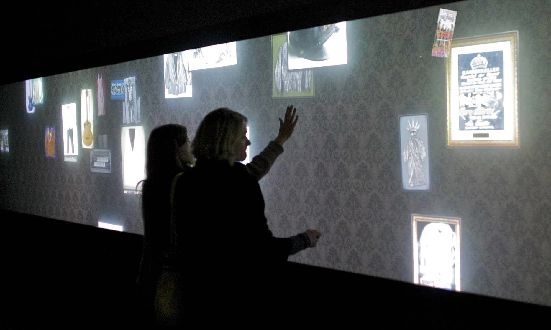 Interactive wall display at Obscura Digital