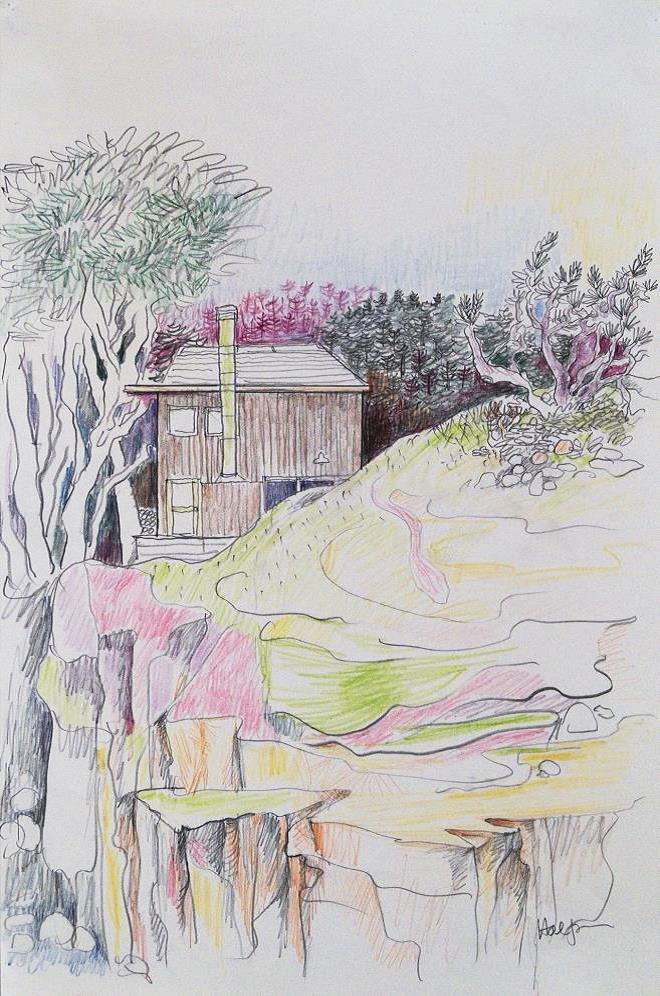 Lawrence Halprin, Sea Ranch House, c. 1980 Courtesy of the Halprin Family Archive and Edward Cella Art + Architecture