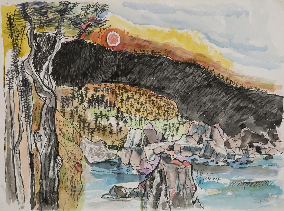 Lawrence Halprin, Sea Ranch Landscape, c. 1980 Courtesy of the Halprin Family Archive and Edward Cella Art + Architecture