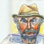 Lawrence Halprin, Self-Portrait before Leaving Israel, 1998 Courtesy of Anna Halprin