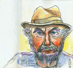 Lawrence Halprin, Self-Portrait before Leaving Israel, 1998 Courtesy of Anna Halprin