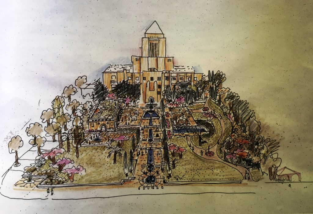 Lawrence Halprin, Design for Los Angeles Library Garden, date unknown Lawrence Halprin, A Life Spent Changing Places (Philadelphia: University of Pennsylvania, 2011)